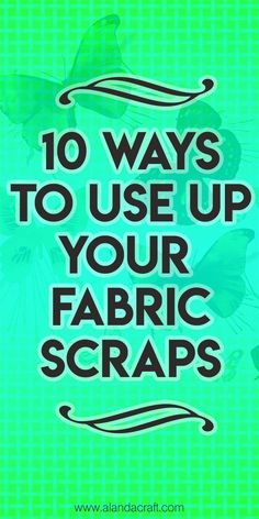 Fabric Ideas 10 Ways to Use Up Your Fabric Scraps - Easy sewing patterns to use up those small scraps of fabric. FREE full step-by-step video and written instructions. Most are fast sewing projects. Great sewing ideas for gifts. Easy Sewing Projects, Sewing Projects For Beginners, Sewing Hacks, Sewing Crafts, Sewing Tips, Scrap Fabric Projects, Baby Sewing Tutorials, Sewing Machine Projects, Sewing Machine Tension