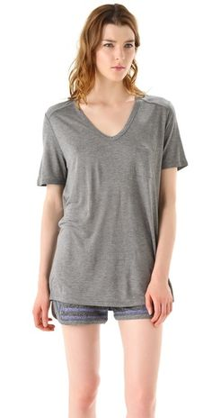 I think we both need this teeshirt. T by Alexander Wang Classic T Shirt with Pocket