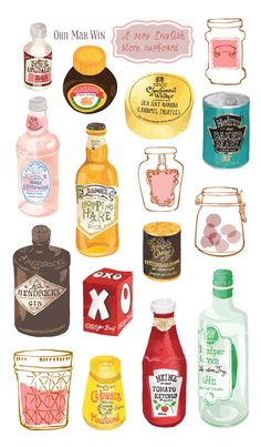 Selection of English store cupboard favourites