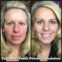 Amazing coverage with Touch Mineral Powder Foundation from Younique #younique #touchfoundation