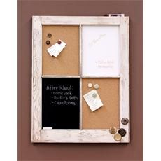Repurpose an old window frame to make this message and communication center.