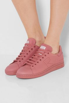 Sole measures approximately 20mm/ 1 inch Antique-rose leather Lace-up front Designer color: Ash Pink Imported