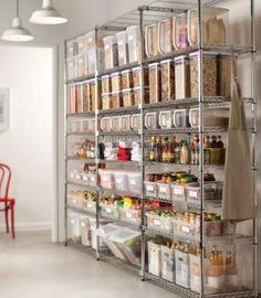 Idéias para o arranjo perfeito da cozinha em todos os estilos - Küche Möbel - Küchen - Kücheninsel - Arranjos Kitchen Pantry Design, Kitchen Pantry Cabinets, Diy Kitchen, Kitchen Organization, Kitchen Decor, Organization Ideas, Storage Ideas, Kitchen Ideas, Storage Solutions