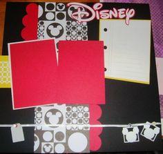 disney layout   Disney layout   Scrapbooking - Disney
