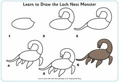 Learn to Draw the Loch Ness Monster