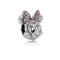 Like Minnie Mouse, this sterling silver limited edition charm is playful, feminine and timeless. Intricately crafted with twinkling black crystals, clear and red cubic zirconia and black enamel, this is a gift for the one who truly makes you smile. #PANDORAlovesDisney