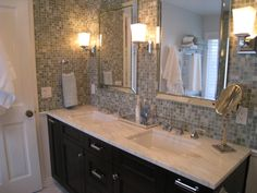 alys edwards glass tile Before and After Bathroom Amazingness
