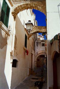 Street Vieste  Puglia  Italy