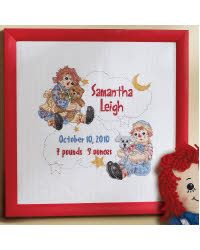 Sleepy Time Raggedy Ann Birth Record