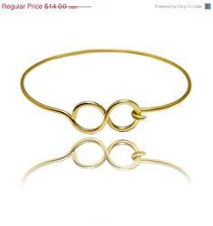 Sale infinity bangle bracelet  gold bracelet by SheBijouPl on Etsy, $11.20