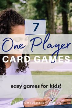 Looking for a few card games you can play by yourself? We have a great list of one player card games for you to try out! These games are perfect games for kids or adults. #games #gamesforkids #fun #activitiesforkids One Player Card Games, Card Games For One, Fun Card Games, Playing Card Games, Activity Ideas, Activity Games, Senior Activities, Activities For Kids, Dice Games