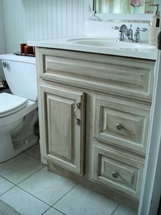 Distressed Bathroom Vanity Idea