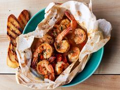 Lemon-Herb Shrimp Packets Recipe : Food Network Kitchen : Food Network - FoodNetwork.com
