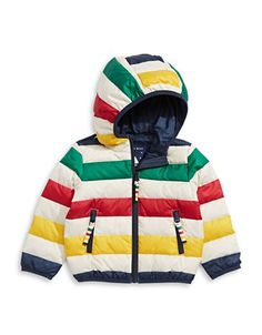 HBC Stripes Kid's Multi Stripe Packable Down Puffer Jacket - Multi Stripe - Size 3 Baby Boy Outfits, Kids Outfits, Puffer Jackets, Winter Jackets, Hudson Bay Blanket, Fresh Girls, Packable Jacket, Fresh Outfits, Kids Coats