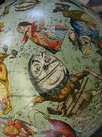 Nursery Rhyme Globe. Vintage nursery rhyme in baby room