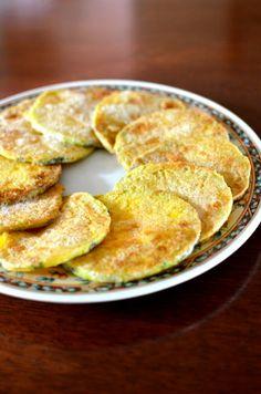 Hobakjeon (호박전) Pan-Fried Pumpkin Side Dish