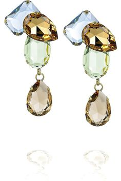 Lanvin #Strass gem drop earrings