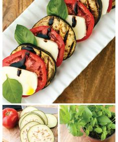 """For Recipe: CLICK on PIC and when taken to 2nd pic click again..GRILLED EGGPLANT CAPRESE SALAD ...  ...Recipe by George Stella... ...For tons more Low Carb recipes visit us at """"Low Carbing Among Friends"""" on Facebook"""