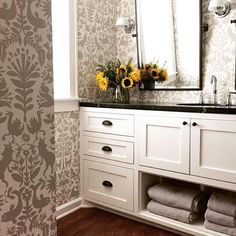 Otomi (Taupe) bathroom reflections (photo by @sarahjohnsonstyle)