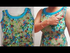 Sleeves less kurta cutting and stiching full tutorial with all tips /designer neckline /step by step - YouTube