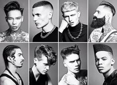 Men's hairdresser of the year Kevin Luchman - love this collection!