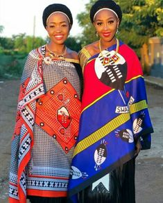 Modern Swati Girls In Emahiya Traditional Attire - Clipkulture Traditional African Clothing, African Traditional Wedding, Traditional Wedding Dresses, Traditional Outfits, African Men, African Dress, Latest African Fashion Dresses, Ankara Fashion, Red Tulle Skirt