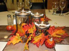 Chi lo dice che l'autunno è una stagione triste?Ecco uno splendido portacandele a tema adatto a ogni situazione, formale o informale www.monterosawicks-store.com