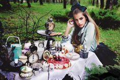 Bow Of Moon: Alice in wonderland vintage tea party,dress to impress school girl style couture