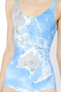 World Maps Swimsuit