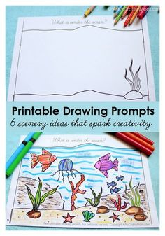 Perfect STEAM activities for the Young Explorer Series: Give your kids some drawing inspiration with our Free Printable Scenery Drawing Prompts! Choose from an assortment of scenes to get the creativity flowing! Art Education Projects, Art Projects, Math Education, Physical Education, School Projects, Special Education, Classe D'art, Drawing Activities, Steam Activities