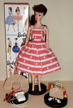 REPRO BARBIE IN VINTAGE BUSY MORNING WITH ALL ACCESSORIES