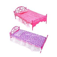 Dollhouse Miniatures Furniture Accessories Berth+Bed Sheet+Pillow Clear Plastic Lace Pink Purple White European Doll Toys - Kid Shop Global - Kids & Baby Shop Online - baby & kids clothing, toys for baby & kid Plastic Lace, Plastic Doll, Pink Plastic, Dollhouse Accessories, Doll Accessories, Miniature Furniture, Dollhouse Furniture, Barbie Bedroom Set, Bedroom Sets