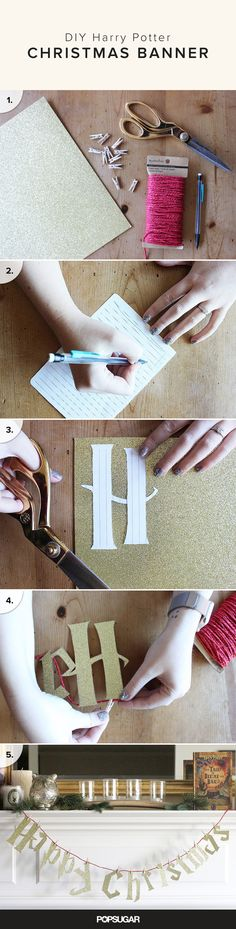 This easy DIY is just another piece in the Harry Potter holiday puzzle — so start stringing together the Potter-inspired words that will make you smile all season long.