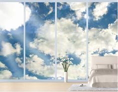 XXL FensterBild In Blue Heaven