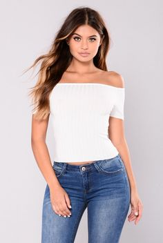 Ophelia Off Shoulder Top - Ivory