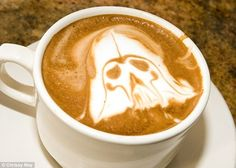"""""""I am your father and this is a cup 'o' me""""   The 40 Most Amazing Examples Of Coffee FoamArt"""