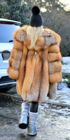 NEW 2017 GOLD FOX FUR COAT HOOD CLAS OF CHINCHILLA SABLE MINK SILVER JACKET VEST
