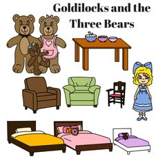 Printable Story Book Characters Little Red Riding Hood, Goldilocks, And The Three Little Pigs