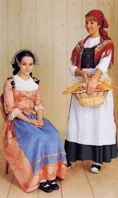 FolkCostume&Embroidery: Overview of Swiss Costume - Ticino. Traditional Fashion, Traditional Dresses, Folklore, Folk Clothing, Italian Clothing, Italian Outfits, Character Costumes, Folk Costume, Embroidered Silk