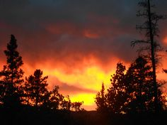 Sunset in Whitehorse, Yukon