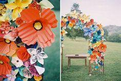 rainbow wedding color trends | Wedding Color} Love in the Chic Rainbow Weddings