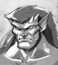 Just a quick sketch of Goliath with some values thrown on top. Goliath/Gargoyles (C) D. Gargoyles Cartoon, Disney Gargoyles, Goliath Gargoyles, Pokemon, Cool Drawings, Comic Art, Fantasy Art, Illustration, Concept Art