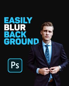 Blur Background In Photoshop, Learn Photoshop, Photoshop Tips, Photoshop Design, Photoshop Photography, Photoshop Tutorial, Graphic Design Lessons, Graphic Design Tutorials, Photo Manipulation