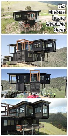 The brief was high end, one of a kind, to show of the external of the containers. 4 bedrooms, bathrooms and full off grid capabilities. Shipping Container Home Designs, Cargo Container Homes, Building A Container Home, Shipping Container House Plans, Container Buildings, Storage Container Homes, Container Architecture, Container House Design, Tiny House Design