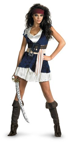 Pirates Of The Caribbean - Jack Sparrow Sassy Adult Costume from BuyCostumes.com