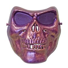 This scary skeleton mask will surely cause quite a scare at your next Halloween or fancy dress party. Scary Halloween Masks, Scary Mask, Fancy Dress Masks, Skeleton, Bronze, Dress Party, Colouring, Color, Party Dress
