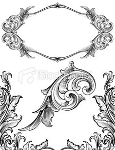 Arabesque Flourish Set Royalty Free Stock Vector Art Illustration