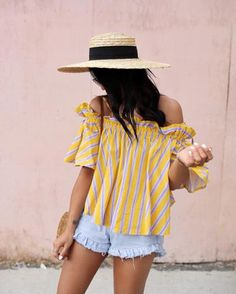 Summer Look | Ruffle Off the Shoulder