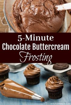 Chocolate Icing Recipes, Best Chocolate Buttercream Frosting, Cake Frosting Recipe, Homemade Frosting, Chocolate Peanut Butter Cookies, Delicious Chocolate, Delicious Desserts, Chocolate Icing For Cupcakes, Chocolate Cream Cheese Frosting