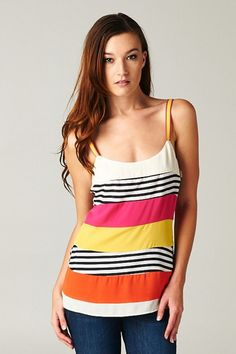 $34 - Spring Stripes Tank - LaMaLu Boutique | Women's Online Clothing Boutique